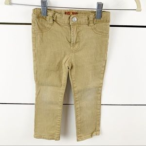 7 FOR ALL MANKIND Stretchy Skinny Jeans Tan 2T